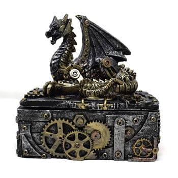 """Boîte Dragon mécanique steampunk """"Secrets of the Machine"""""""