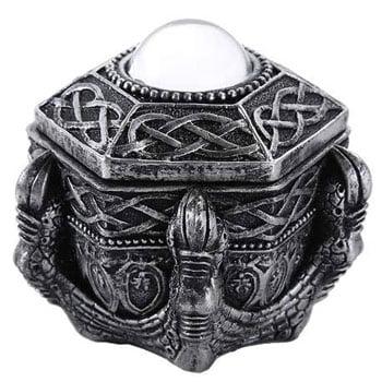 Boîte celtique Griffe de Dragon avec sphère de cristal