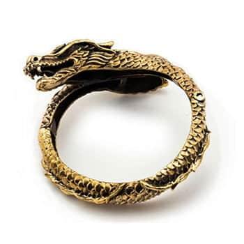 Bracelet Dragon viking en bronze finement ouvragé