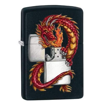 "Briquet Zippo Dragon asiatique ""Asian Dragon Breathing"" - Véritable Zippo"