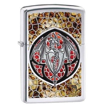 """Briquet Zippo Dragon """"Altar Drake""""  - Design officiel Anne Stokes - Véritable Zippo"""