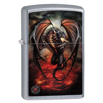 "Briquet Zippo Dragon ""Fire Breathing Dragon"" - Design officiel Anne Stokes - Véritable Zippo"