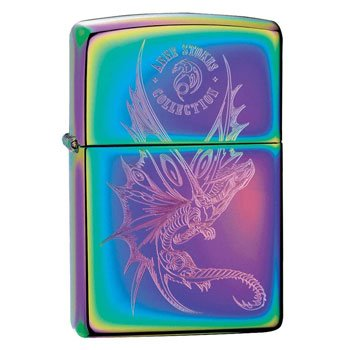 "Briquet Zippo Dragon ""Fly Away With Me"" - Design officiel Anne Stokes - Véritable Zippo"