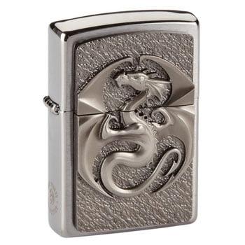 """Briquet Zippo Dragon """"Dragon Logo"""" - Design officiel Anne Stokes - Véritable Zippo"""