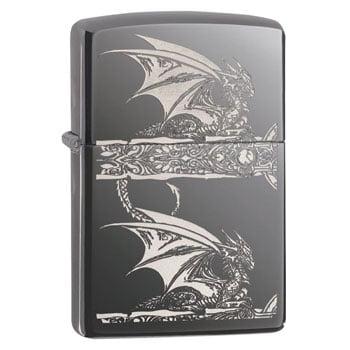 """Briquet Zippo Dragon """"Gothic Dragon"""" - Design officiel Anne Stokes - Véritable Zippo"""