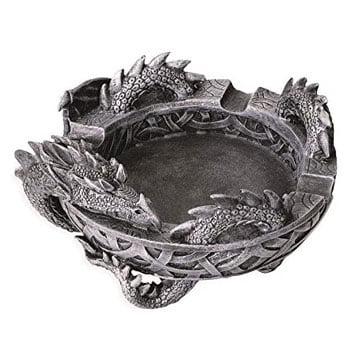 Cendrier Dragon en résine haute qualité avec entrelacs celtiques