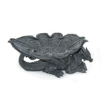 Cendrier Dragon avec ailes déployées en forme de coupelle et motifs celtiques
