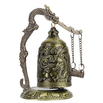 Cloche bouddhiste décorative motif Dragon mythologique asiatique