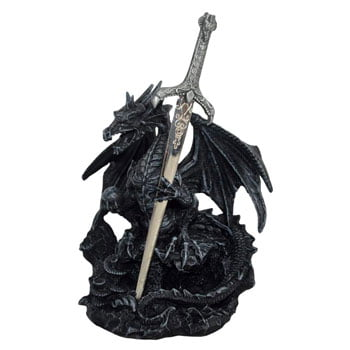 "Coupe-papier Dragon noir avec orbe ""Oath of the Dragon"""