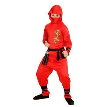 Déguisement de ninja avec dragon doré