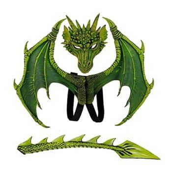 Déguisement Dragon Vert 3 pièces