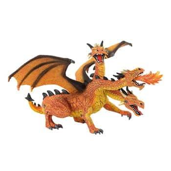 Figurine Dragon à trois têtes cracheur de feu