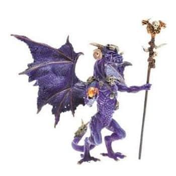 Figurine Sorcier Dragon violet