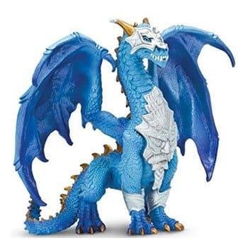 Figurine Dragon Bleu Fantasy en armure