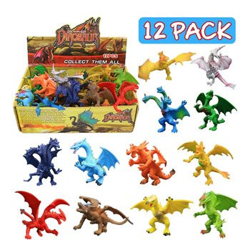 Lot de 12 figurines de dragons