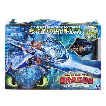 Figurine Dragons 3 - Krokmou géant 50 cm