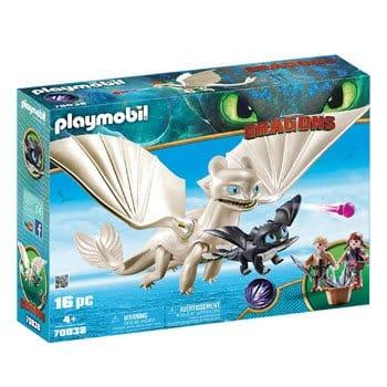 Playmobil Dragons- Furie Éclair et Bébé Dragon avec Enfants