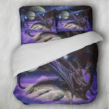 """Parure de lit Dragon 3 pièces Dragon Fantasy """"Cosmic Dragon"""""""