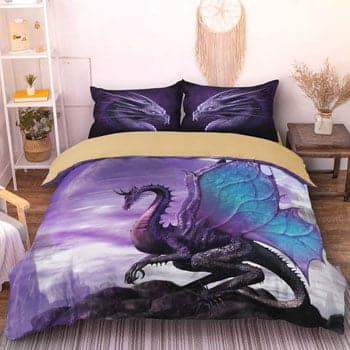 Parure de lit Dragon 3 pièces Dragon Fantasy - Dragon Papillon
