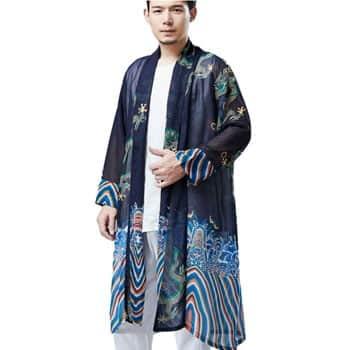 Veste Kimono japonais Dragon pour homme