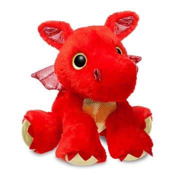 Peluche Sizzle le Dragon Rouge (Aurora)