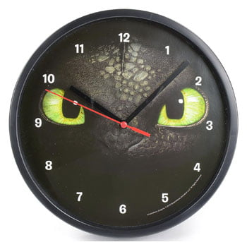 Horloge murale mécanique Krokmou How To Train Your Dragon (Dragons) - Sous licence officielle Dreamworks
