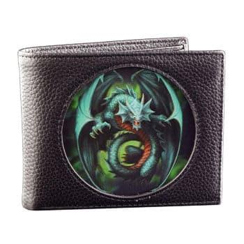 "Portefeuille ""Jade Emerald Dragon"" - Design officiel Anne Stokes"