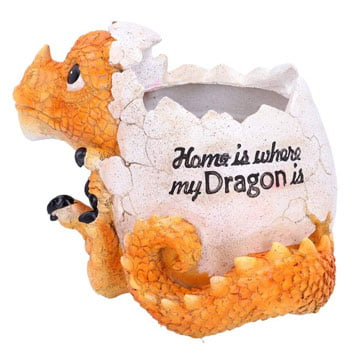 "Pot à crayons Bébé Dragon ""Home is where my Dragon is"""