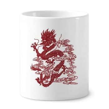Pot à crayons Dragon céleste chinois