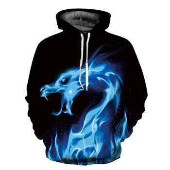 "Sweat à capuche ""Esprit du Dragon de Glace"""