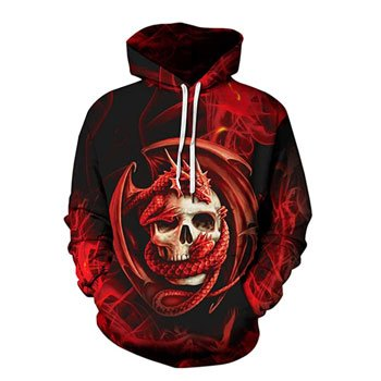 "Sweat à capuche ""Skull Embrace"" - Design officiel Anne Stokes"
