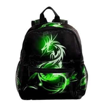 Sac à dos Dragon vert stylisé