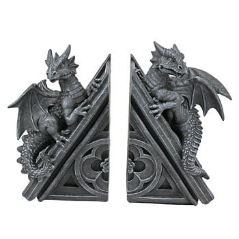 Serre-Livres Dragons sur toit de château gothique