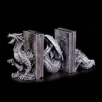 Serre-Livres Dragon Fantasy 3 pièces finement ouvragé