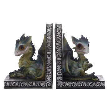 Serre-Livres Bébés Dragons verts assis