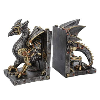 Serre-Livres Dragon steampunk Dracus Machina