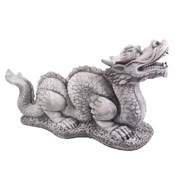 Statue de Dragon de jardin chinois en pierre