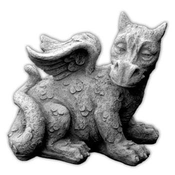 Statue de Dragon de jardin en pierre de style gargouille