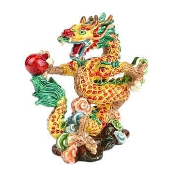 Dragon protecteur Feng Shui avec perle de bonheur