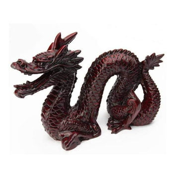 Grand Dragon chinois traditionnel Feng Shui rouge foncé