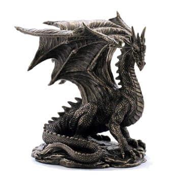 Figurine Dragon Grawlbane en résine de bronze