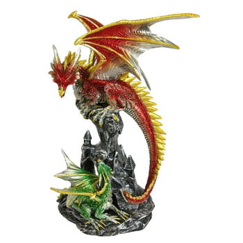 Figurine Dragon Maman qui guide son petit