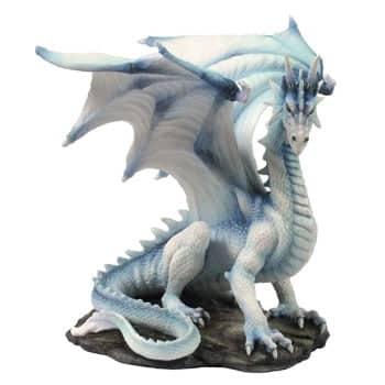 Figurine Dragon Grawlbane blanc en résine