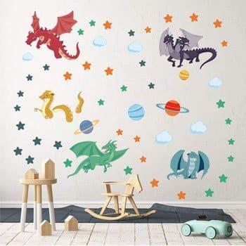 Stickers Dragons Etoiles et Planètes