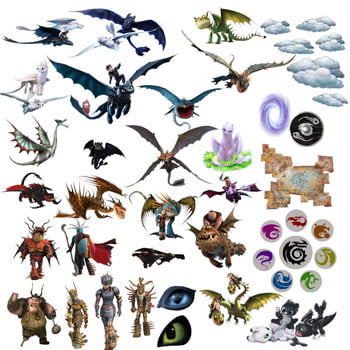 Stickers Film Dragons (How To Train Your Dragon)