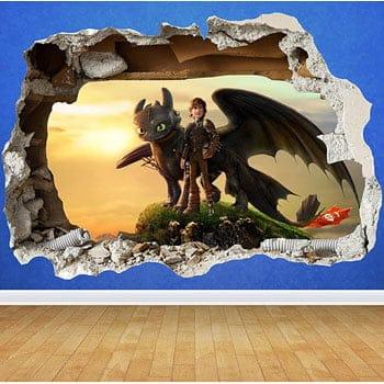 Sticker 3D Film Dragons 3 : Le Monde Caché de Dreamworks
