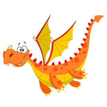 Stickers Dragon Cartoon