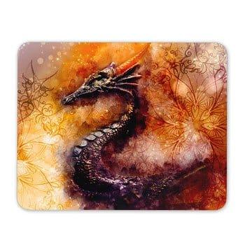 Tapis de souris Dragon ancestral 23,5 x 19,6 cm - Toile de Jozef Klopacka
