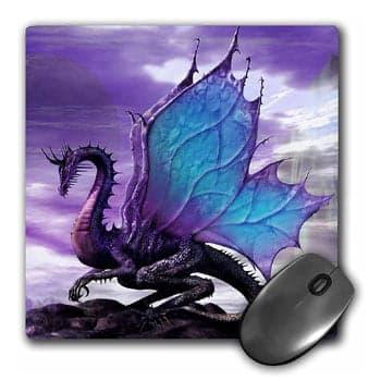 Tapis de souris Dragon Papillon 20,3 x 20,3 cm