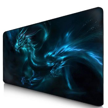 Tapis de souris gaming Dragon bleu XXL 90 x 40 cm